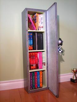 'hanging girl' shelf