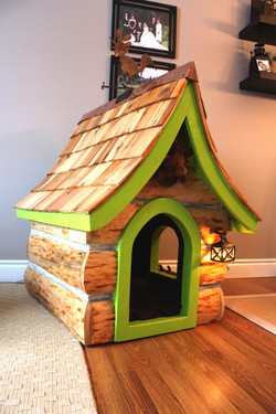 Maggie's log dog house
