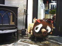 albert the sad little pig - firewood carrier