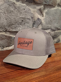 Heritage Leather Patch Green Trucker Hat