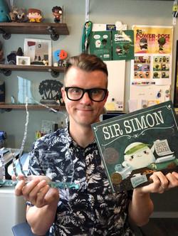 Cale Atkinson photo with award Sir Simon