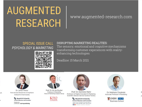 Call for paper: Special issue on Augmented Reality in Psychology & Marketing