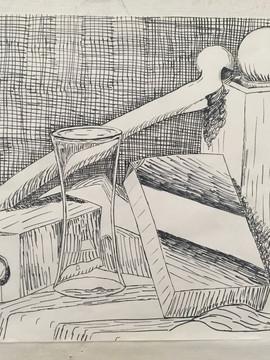 Crosshatch still life - Amber Muggy
