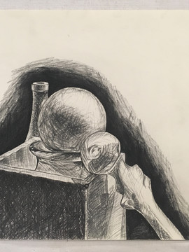 Charcoal still life - Ivy Woltering