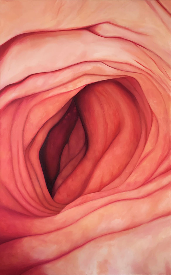 Emerge, 2020, oil on canvas, 48 in. x 30 in.