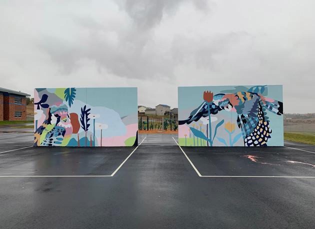 Kestrels (design by Jiemei Lin), 2019, approx. 12' x 40'