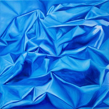 "Light study: blue, 2019, oil on canvas, 12"" x 12"""