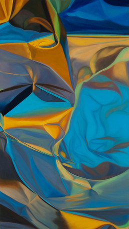 """Flux, 2015, oil on canvas, 72"""" x 30"""""""