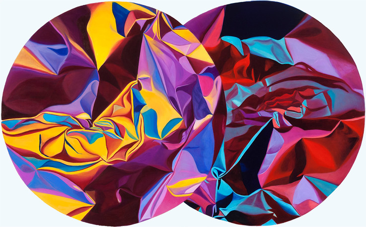 """Double Vision, 2015, oil on canvas, 30"""" x 48.75"""""""