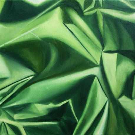 "Light study: green, 2019, oil on canvas, 12"" x 12"""