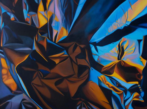 "Flash, 2018, oil on canvas, 40"" x 55"""