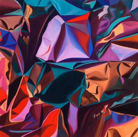 """Folds, 2014, oil on canvas, 48"""" x 48"""""""