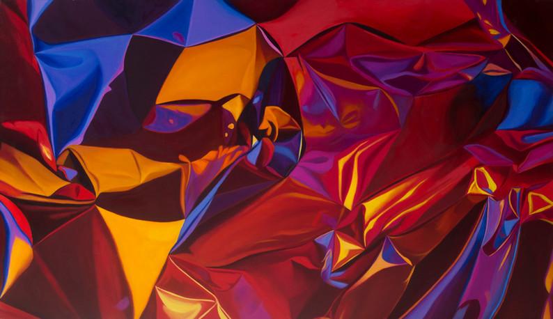 "Surge, 2017, oil on canvas, 36"" x 58"""