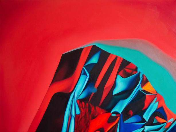 "Shrink, 2019, oil on canvas, 26"" x 36"""