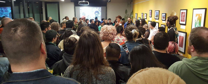 _2018 Opening Reception_ Large Crowd Cre