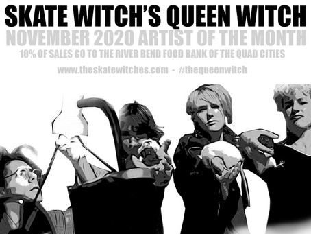 SKATE WITCH - LOPIEZ NOVEMBER 2020 ARTIST OF THE MONTH #queenwitchpizza
