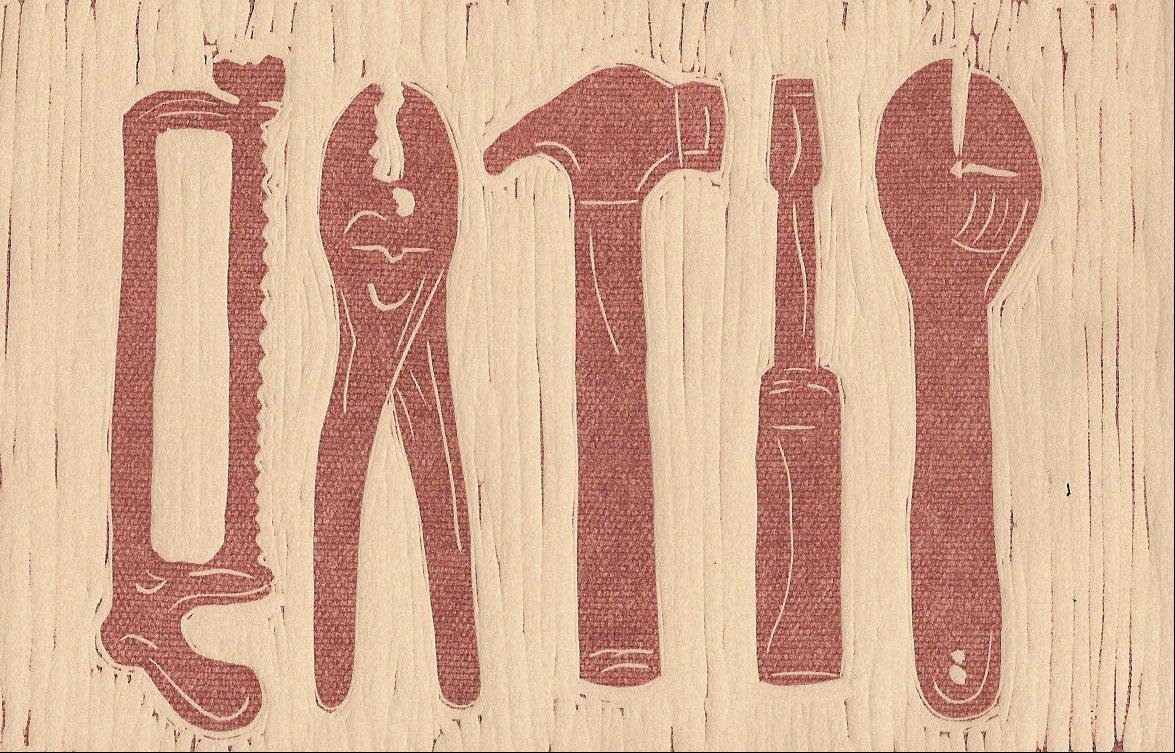 18 Karla Wilhelm, Tools, Linocut