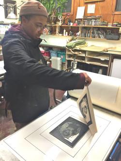 Amari Robinson Pulling Print