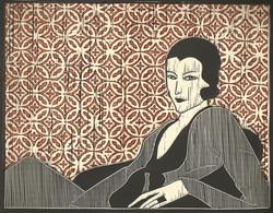 17 Jeff Thomas, Untitled, Linocut