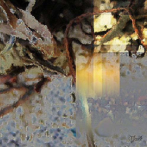 Pluie glaciale dans le pare-brise la nuit - FICHIER DIGITAL