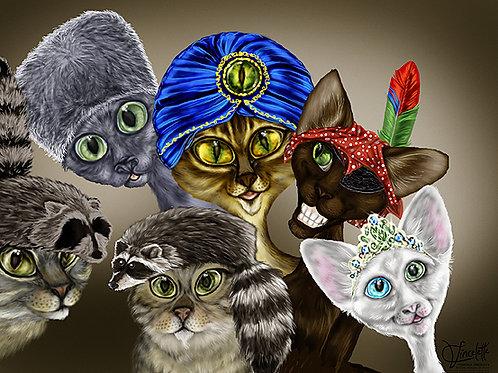 Hat Cats - FICHIER DIGITAL