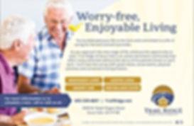 trail ridge senior living ad designed by age media