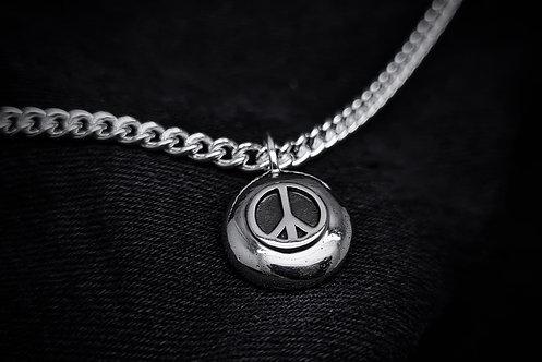 'Don't Despair' Peace Symbol Necklace 925 Sterling Silver