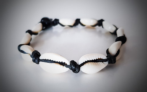 Genuine Leather Cowrie Shell Leather Bracelet