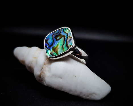 Abolone Shell Ring 925 Sterling Silver