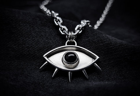 'The Tainted Eye' 925 Sterling Silver and Black Onyx Necklace ©