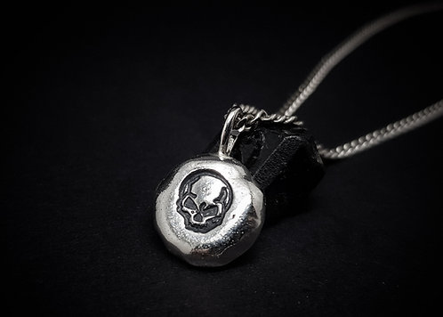 'Home to the Soul' Skull Amulet 925 Sterling Silver Necklace
