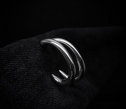 Chunky Oval Link Spike Hoop Earrings 925 Sterling Silver