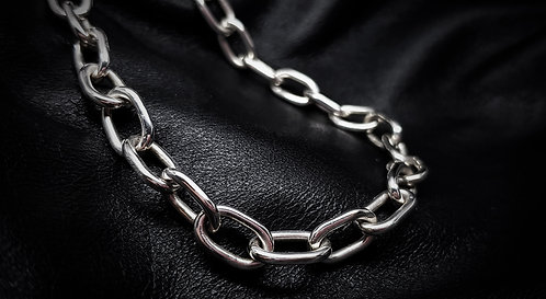 Heavy Link Chain Necklace 925 Sterling Silver