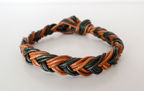 Hybrid Braided Leather Bracelet