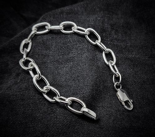 Heavy Link Chain Bracelet 925 Sterling Silver