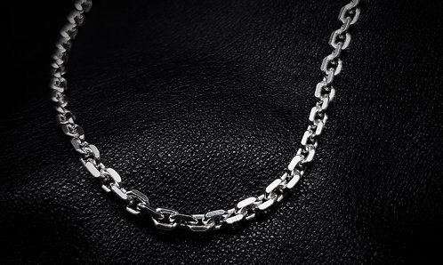 Heavy Knife Edge Chain 925 Sterling Silver