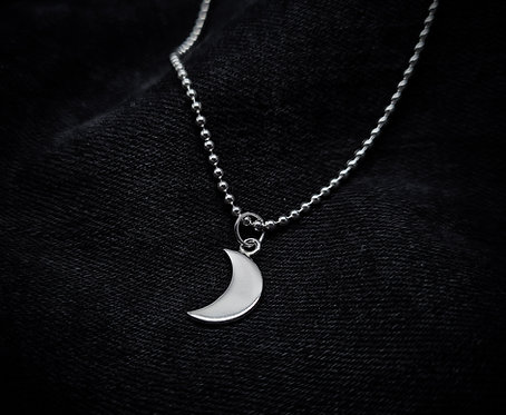 Baby Moon Talisman 925 Sterling Silver Necklace