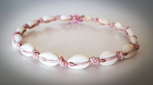 Cowrie Shell Leather Choker