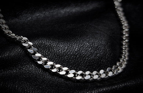 Heavy Cuban Curb Chain 925 Sterling Silver