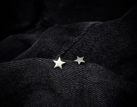 Tiny Star 925 Sterling Silver Stud Earrings