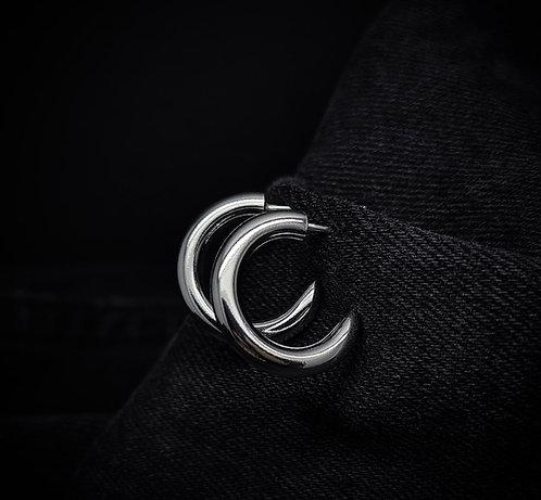 Small Chunky Hoop Earrings 925 Sterling Silver