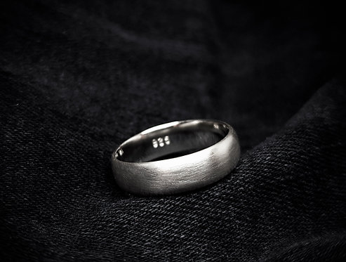 Wide Matte Ring Band 925 Sterling Silver Ring Band