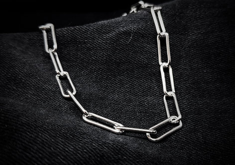 Long Link Chain Necklace 925 Sterling Silver