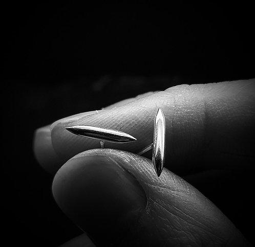 Bar Spike Stud Earrings 925 Sterling Silver