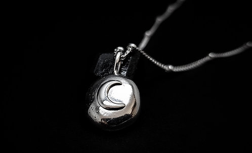 """Moon Child"" 'Wildling of the Moon' Talisman 925 Sterling Silver Necklace ©"