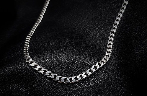 Regular Heavy Flat Curb Chain 925 Sterling Silver