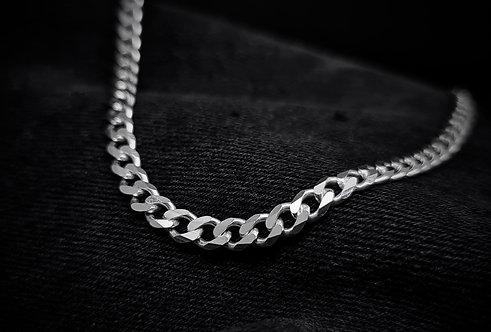 Regular Heavy Flat Curb Chain 925 Sterling Silver
