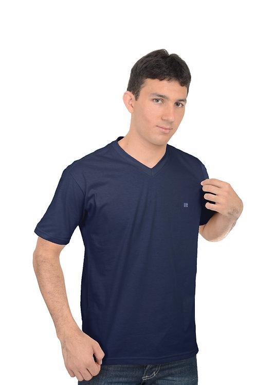 Camiseta Decote V Bordado T