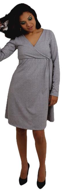 Vestido Rodado Manga Longa
