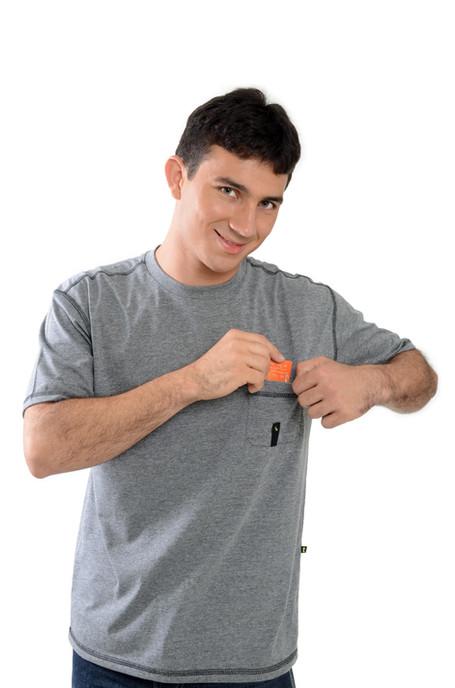 Camiseta com Bolso - SKU - 20121
